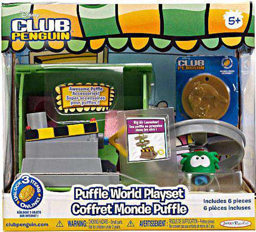 Club Penguin Puffle World Big Air Launcher 1-Inch Playset [Damaged Package]
