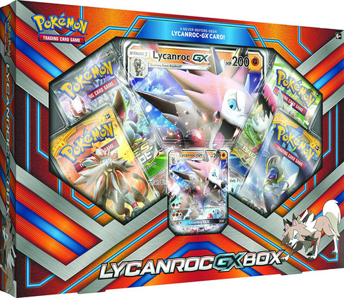 Pokemon Trading Card Game Lycanroc-GX Box [4 Booster Packs, Promo Card & Oversize Card]