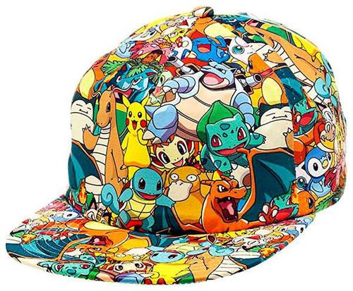 Pokemon All Over Print Sublimated Snapback Baseball Cap