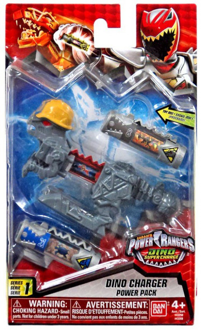 Power Rangers Dino Super Charge Series 1 Gray Dino Charger Power Pack #43268 [with Hardhat]