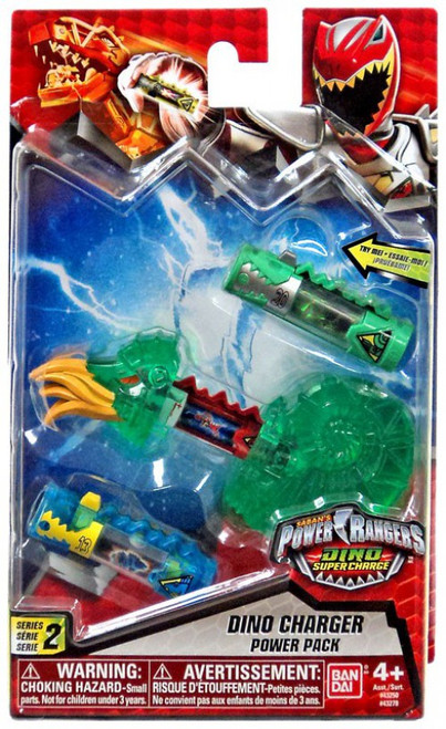 Power Rangers Dino Super Charge Series 2 Translucent Green Dino Charger Power Pack #32278