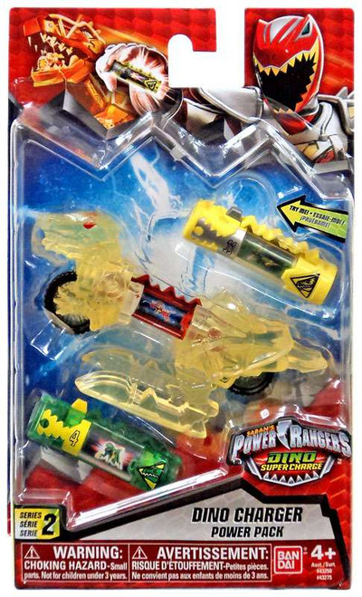 Power Rangers Dino Super Charge Series 2 Translucent Yellow Dino Charger Power Pack #43275 [Dino Super Charge]