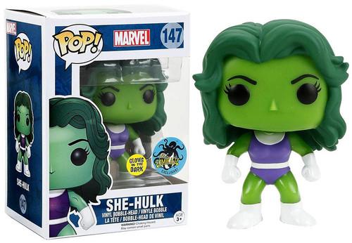 Funko POP! Marvel She-Hulk Exclusive Vinyl Bobble Head #147 [Glow-in-the-Dark]