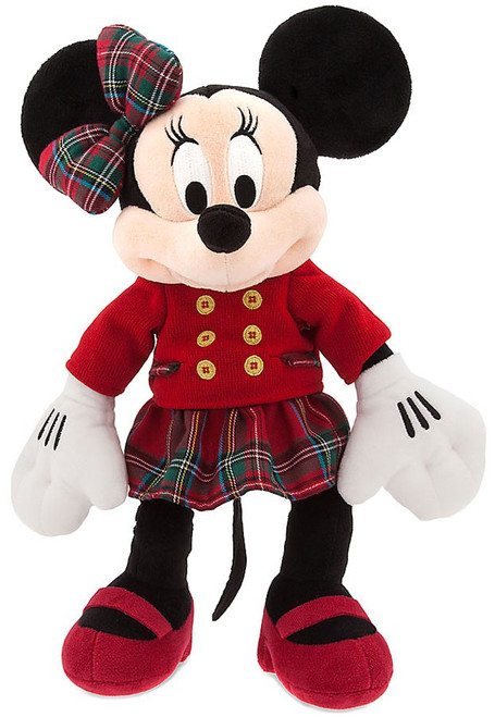 Disney 2016 Holiday Minnie Mouse Exclusive 16-Inch Plush [Red Top, Plaid Skirt]