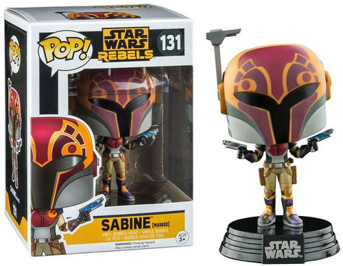 Funko Rebels POP! Star Wars Sabine Wren Exclusive Vinyl Bobble Head #131 [Masked]