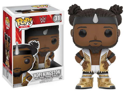 Funko WWE Wrestling POP! Sports Kofi Kingston Vinyl Figure #31 [New Day - White Outfit]