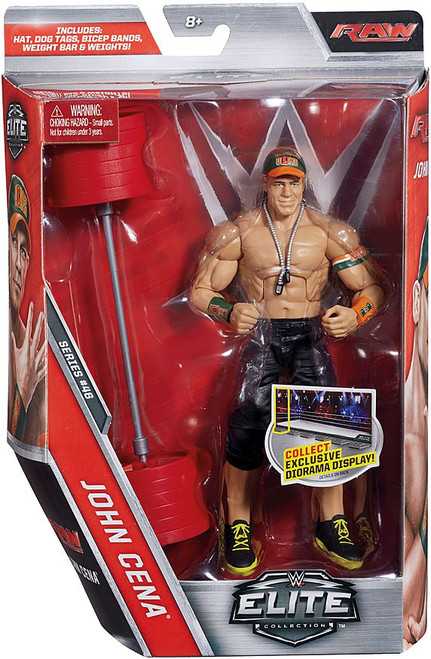 WWE Wrestling Elite Collection Series 46 John Cena Action Figure [Hat, Dog Tags, Bicep Bands, Weights & Bar]