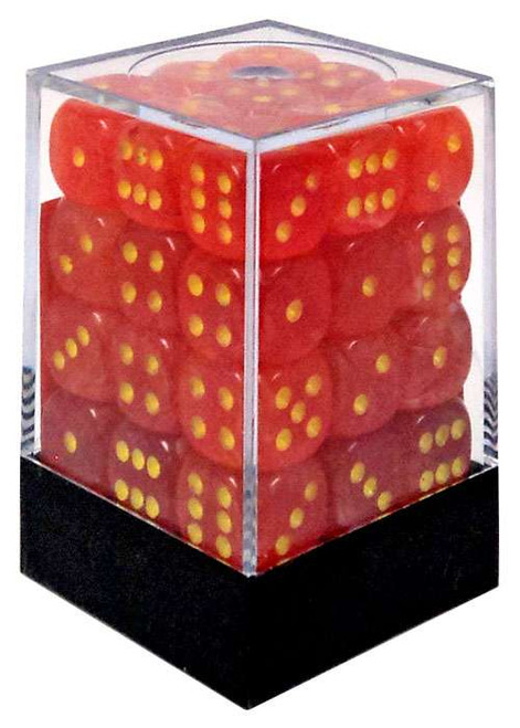 Chessex 6-Sided d6 Ghostly Glow 12mm Dice Pack #27923 [Orange & Yellow]
