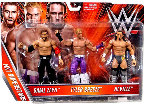WWE Wrestling NXT Superstars Sami Zayn, Tyler Breeze & Neville Exclusive Action Figure 3-Pack [Loose]