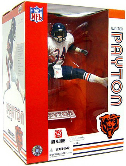 McFarlane Toys NFL Chicago Bears Sports Picks Walter Payton Deluxe Action Figure [White Jersey]