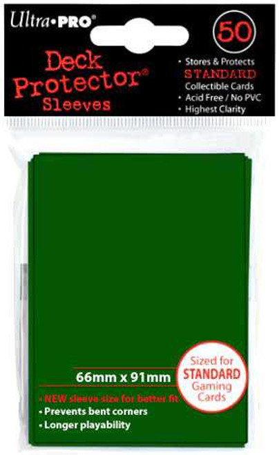 Ultra Pro Card Supplies Deck Protector Green Standard Card Sleeves [50 Count]