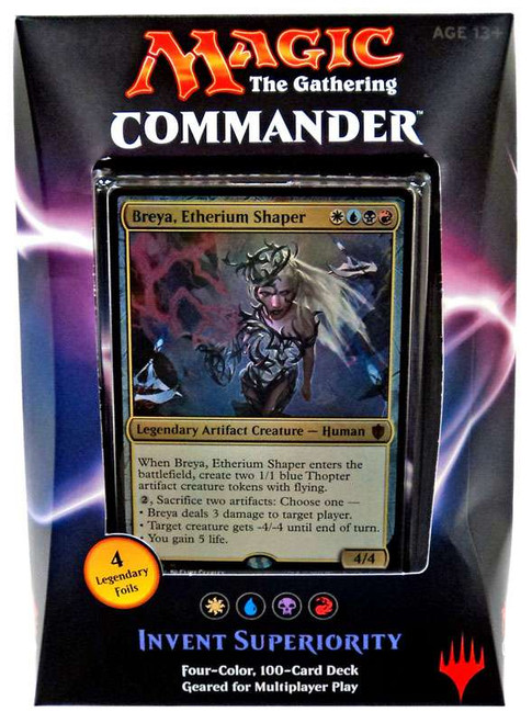 MtG Trading Card Game 2016 Commander Invent Superiority Deck