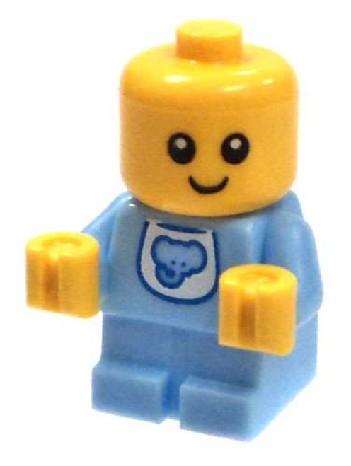 LEGO Baby in Bright Light Blue Onsie with Elephant Bib Minifigure [Loose]