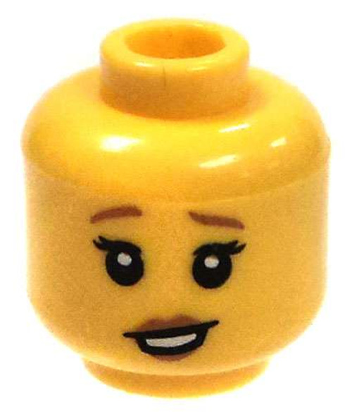 Yellow Female with Weary Expression Minifigure Head [Loose]