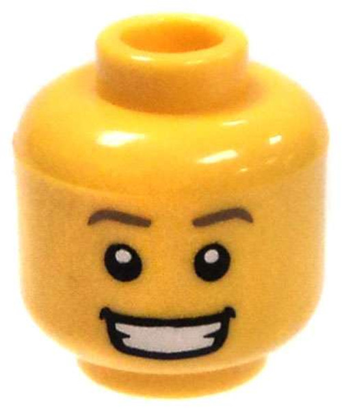 Yellow Male with Wide Grin Minifigure Head [Loose]