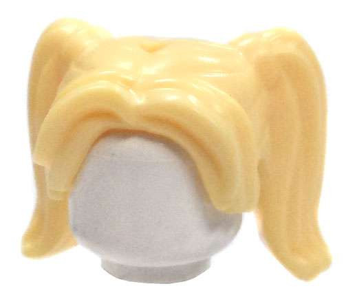 LEGO Bright Blonde Pigtails Loose Hair [Loose]