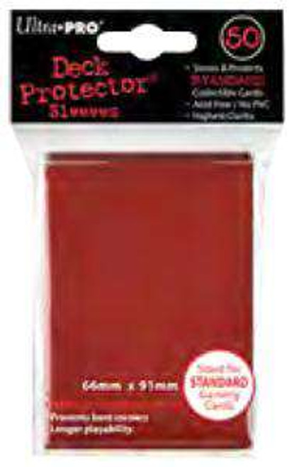 Ultra Pro Card Supplies Deck Protector Red Standard Card Sleeves [50 Count]