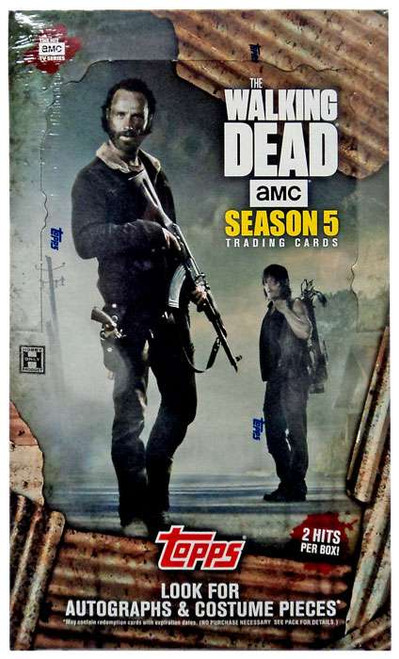 The Walking Dead Topps 2016 Season 5 Trading Card HOBBY Box [24 Packs, 2 Hits Per Box!]