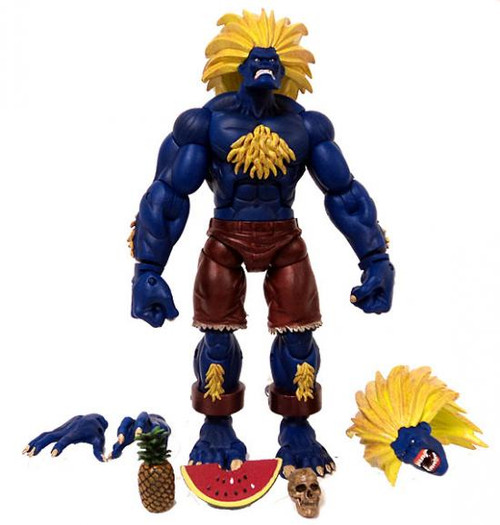 Street Fighter Series 2 Blanka Exclusive Action Figure [Blue w/Yellow Hair, Loose]