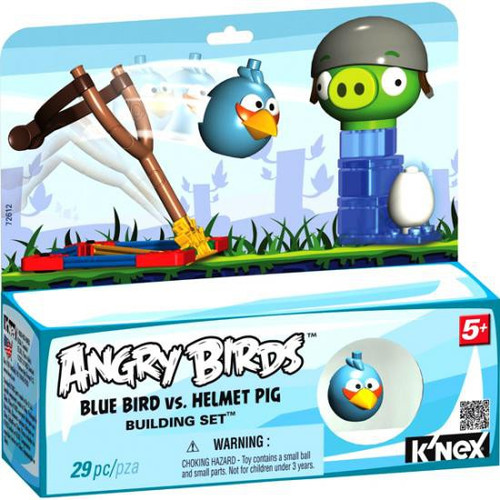 K'NEX Angry Birds Blue Bird vs. Helmet Pig Set #72612
