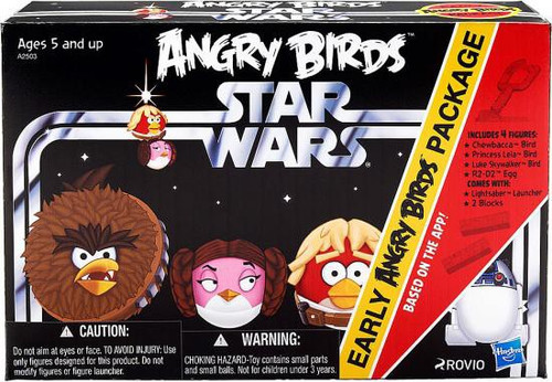 Star Wars Early Angry Birds Package Figure Set