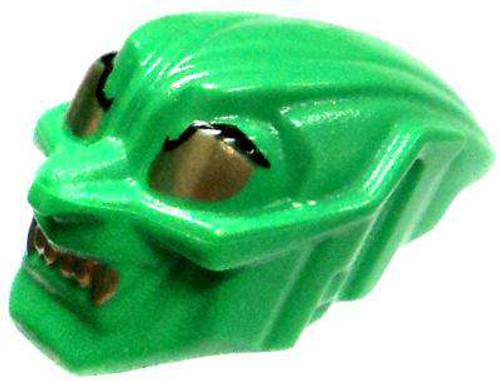 LEGO Green Green Goblin Mask with Gold Eyes & Teeth [Loose]