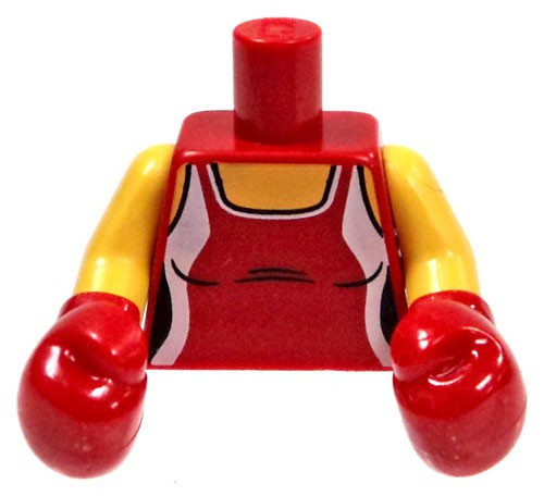 LEGO Red Tank Top with Boxing Gloves Loose Torso [Loose]
