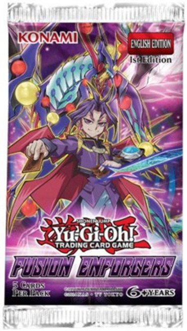 YuGiOh Trading Card Game Fusion Enforcers Booster Pack [5 Cards]