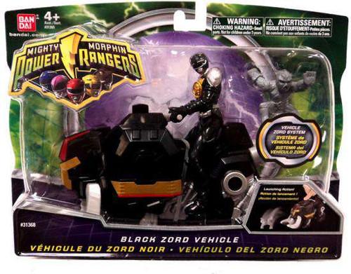 Power Rangers Mighty Morphin 2010 Black Zord Vehicle Action Figure