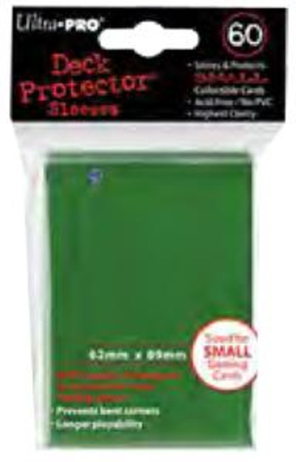 Ultra Pro Card Supplies Deck Protector Green Small Card Sleeves [60 ct Small]