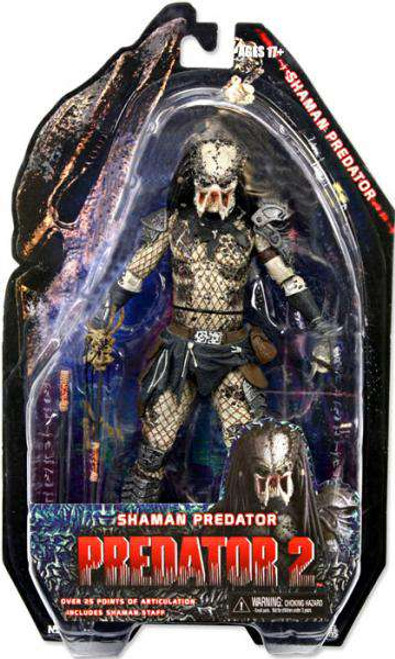NECA Predator 2 Series 4 Shaman Predator Action Figure [Damaged Package]