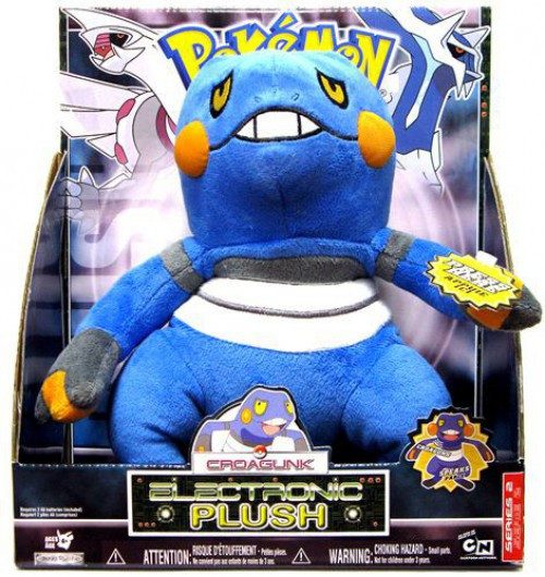 Pokemon Croagunk 12-Inch Electronic Plush