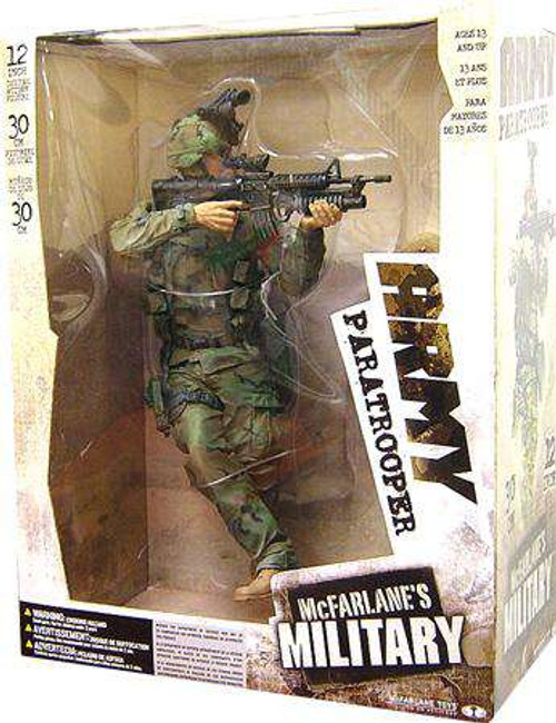 McFarlane Toys Military Army Paratrooper Deluxe Action Figure [Random Ethnicity, Damaged Package]