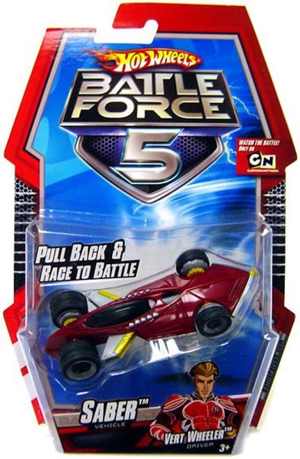 Hot Wheels Battle Force 5 Pull Back Saber Diecast Car