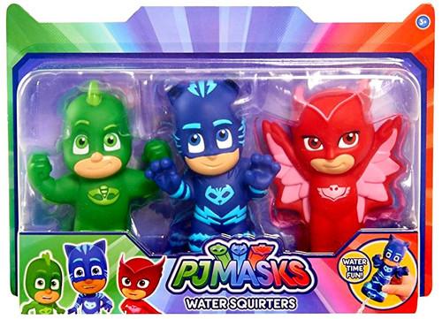 Disney Junior PJ Masks Gekko, Catboy & Owlette Bath Toy 3-Pack [Water Squirters]