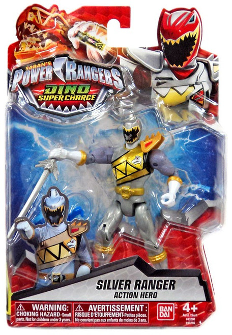 Power Rangers Dino Super Charge Silver Ranger Action Figure