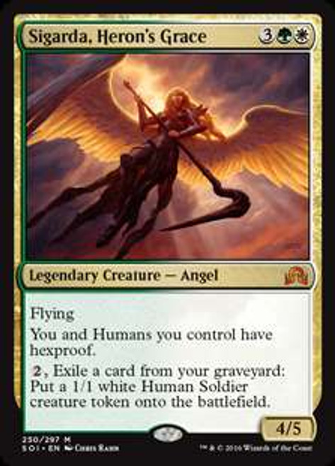 MtG Shadows Over Innistrad Mythic Rare Foil Sigarda, Heron's Grace #250