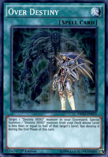YuGiOh Destiny Soldiers Super Rare Over Destiny DESO-EN015