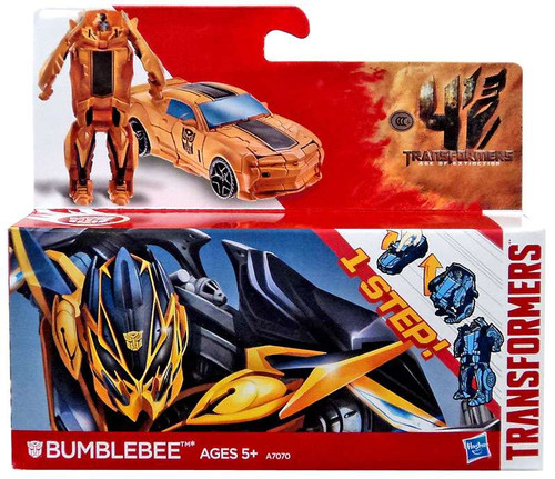 Transformers Age of Extinction 1 Step Changer Bumblebee Action Figure [Boxed]