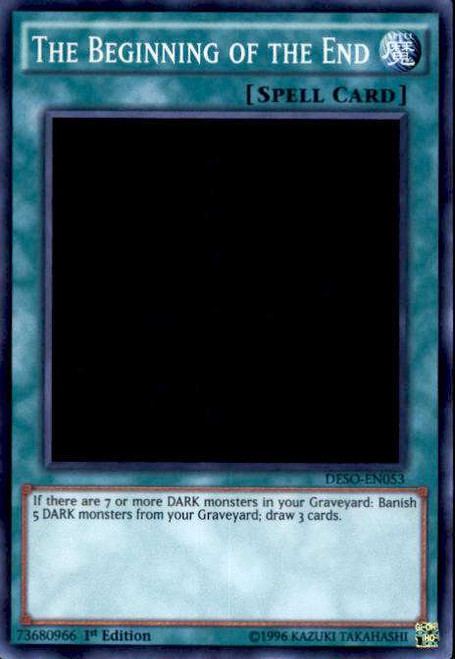 YuGiOh Destiny Soldiers Super Rare The Beginning of the End DESO-EN053
