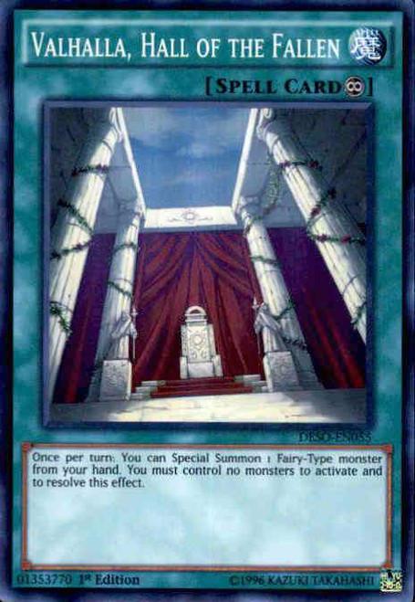 YuGiOh Destiny Soldiers Super Rare Valhalla, Hall of the Fallen DESO-EN055