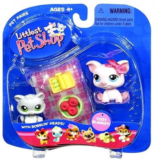 Littlest Pet Shop Pet Pairs Pot Belly Pig & Kitten Figure 2 Pack