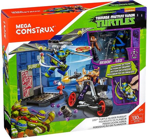 Mega Construx Teenage Mutant Ninja Turtles Animation Leo Turtle Glider Pursuit Set