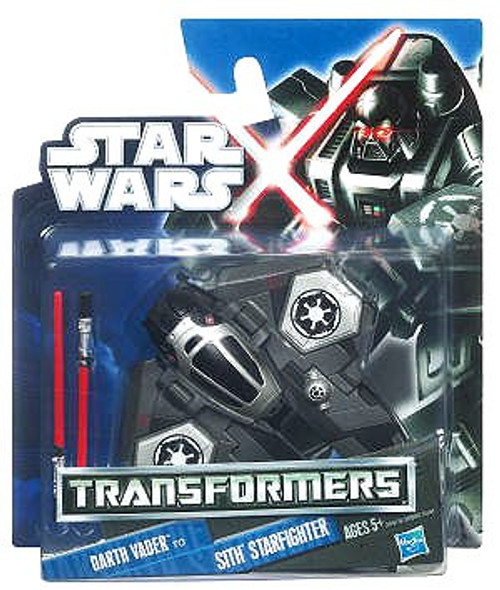 Star Wars Revenge of the Sith Transformers 2012 Class I Darth Vader to Sith Starfighter Action Figure