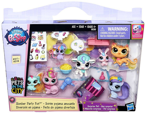 Littlest Pet Shop Pets in the City Slumber Party Fun Exclusive Figure Set