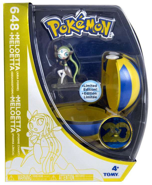 Pokemon 20th Anniversary Clip n Carry Pokeball Meloetta with Quick Ball Figure Set [20th Anniversary]