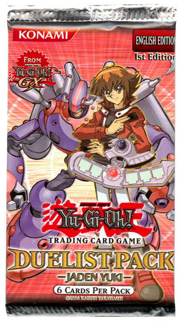 YuGiOh Trading Card Game Duelist Pack Jaden Yuki (1st Edition) Booster Pack