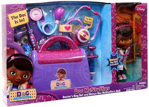 Disney Doc McStuffins Doctor's Bag Play Set Roleplay Toy [Doc McStuffins Doll, Damaged Package]