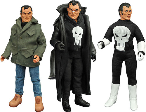 Marvel Retro Cloth Punisher Action Figure Gift Set 3-Pack