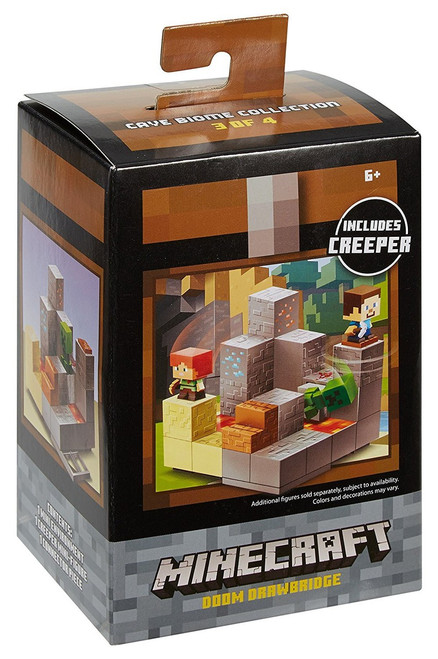 Minecraft Cave Biome Collection Doom Drawbridge Mini Figure Environment Playset #3 of 4 [Includes Creeper]